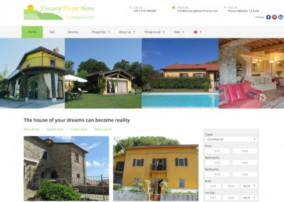 Tuscanydreamhome homepage
